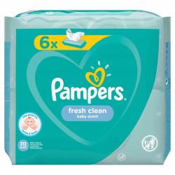 Servetele umede Pampers Fresh Clean (6x52 buc), 312 buc