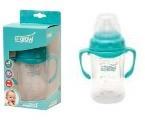 Biberon 0-3 luni din Sticla 120 ml Gat Larg cu Protectie Plastic Moale U-GROW A-1055