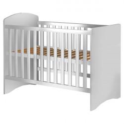 Patut copii din lemn - Anne, 120x60 cm, alb