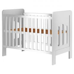 Patut copii din lemn Sophie, 120x60 cm, alb