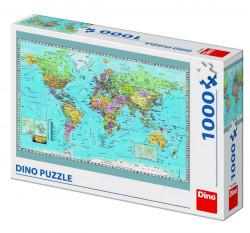 Puzzle - Harta politica a lumii - 1000 piese