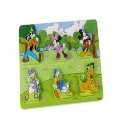 Puzzle lemn potriveste personajele Disney