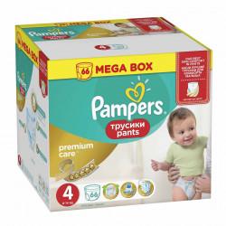 Scutece-chilotel Pampers Premium Care Pants 4 Mega Box 66 buc
