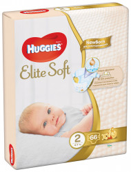 Scutece Huggies Jumbo Pack Elite Soft Nr.2, 4-6 kg, 66 buc