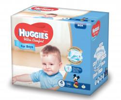 Scutece Huggies Ultra Confort BOX 4, Baieti, 8-14 kg, 126 buc