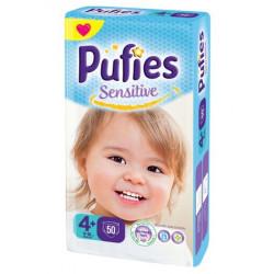 Scutece Pufies Sensitive Nr.4+, 50 buc