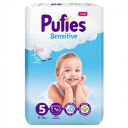 Scutece Pufies Sensitive Nr.5, 11-16kg, 76 buc