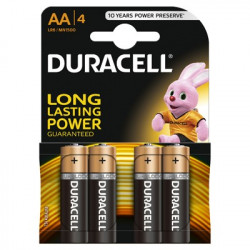 Set 4 baterii Duracell, Basic AA