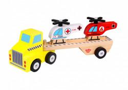 Camion de lemn cu elicoptere