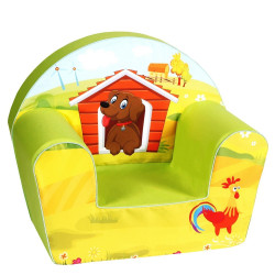 Fotoliu din burete Dog on a Farm
