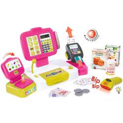Jucarie Casa de marcat Mini Shop roz cu accesorii