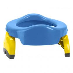 Pachet economic Potette Plus albastru: olita portabila + liner reutilizabil + 10 pungi biodegradabile