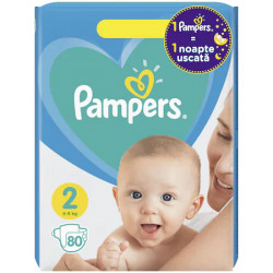 Pampers New Baby - nr.2, 4-8 kg, 80 buc