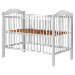 Patut copii din lemn - Lizett, 120x60 cm, alb