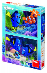 Puzzle 2 in 1 - Gasirea lui Dory - 77 piese