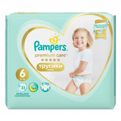 Scutece-chilotel Pampers Premium Care Pants 6 Value Pack 31 buc
