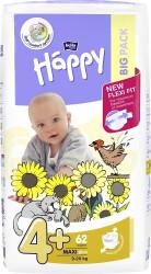 Scutece Happy Maxi Plus 4+ Big Pack, 9-20 kg, 62 buc
