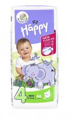 Scutece Happy Nr 4 Maxi 8-18 kg 46 buc