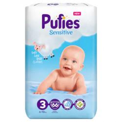 Scutece Pufies Sensitive Nr.3, 6-10kg, 66 buc