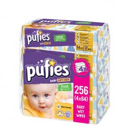 Servetele Umede PUFIES Fresh, Aloe Vera, 4x64 buc
