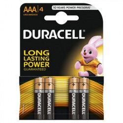 Set 4 baterii Duracell Basic, AAA