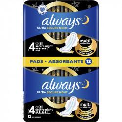 Absorbante Always Ultra Secure Night, Duo, 12 buc