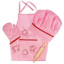 BigJigs Set sortulet si accesorii roz