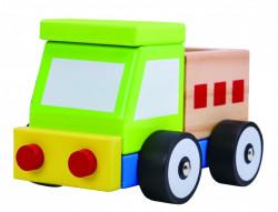 Camion colorat de lemn