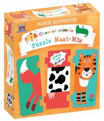 Creeaza animale puzzle maxi - mix