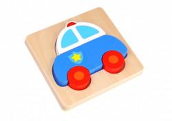 Mini Puzzle lemn, masina de politie