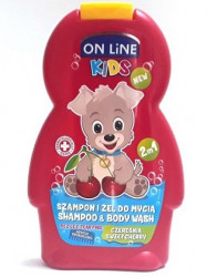 ON LINE KIDS Shampoo/Body Wash Sweet Cherry 250 ml