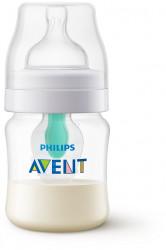 Philips-Avent Biberon 125 ml cu dispozitiv anticolici AirFree™, Tetină cu debit pentru nou-născut