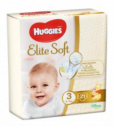 Scutece Huggies Elite Soft Nr.3, Convi, 5-9 kg, 21 buc