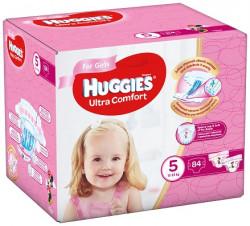 Scutece Huggies Ultra Confort BOX 5, Fete, 12-22 kg, 84 buc