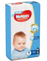 Scutece Huggies Ultra Confort Mega Pack 4, Baieti, 8-14 kg, 66 buc