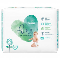 Scutece Pampers Pure, Nr.2, 4-8kg, Carry Pack, 27 buc