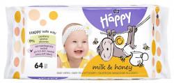 Servetele umede Happy Milk&Honey, 64 buc