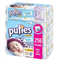 Servetele Umede PUFIES Sensitive, 4x64 buc