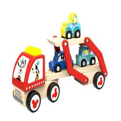 Set camion transportor de masini cu personajele Disney