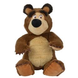 Jucarie de plus Masha and the Bear, Bean Bag Bear 20 cm