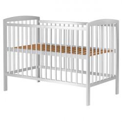 Patut copii din lemn - Anzel, 120x60 cm, alb