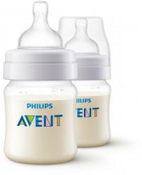 Philips-Avent Set 2x Biberon Classic, 125 ml, tetina Airflex