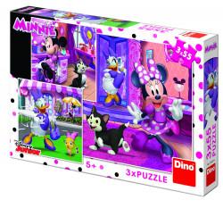 Puzzle 3 in 1 - O zi cu Minnie - 55 piese
