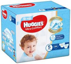 Scutece Huggies Ultra Confort BOX 5, Baieti, 12-22 kg, 84 buc