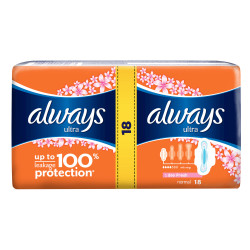 Absorbante Always Ultra Normal Fresh Duo, 18 buc