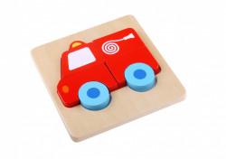 Mini Puzzle lemn,masina pompieri