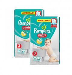 Pachet 2 x Scutece chilotel Pampers Pants Nr.3, 60 buc (120 buc)