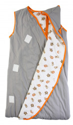 Sac de dormit multifunctional Grey Orange Zoo Animal Travel 18-36 luni 2.5 Tog