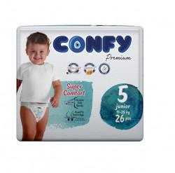 Scutece Confy Premium, Nr.5, Junior, 11-25 kg, 26 Buc