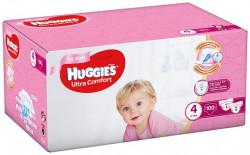 Scutece Huggies Ultra Confort BOX 4, Fete, 8-14 kg, 100 buc